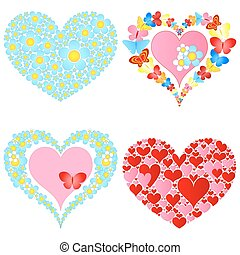 valentine, simbólico, corazones
