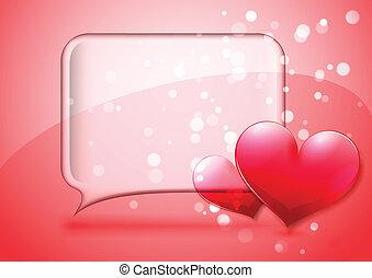 Valentine speech bubble card