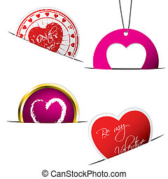 Valentine stickers and labels