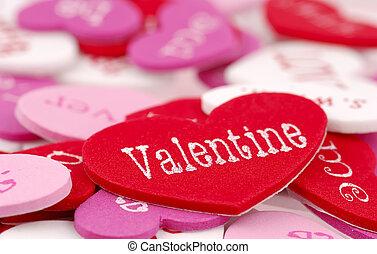 Valentine - Foam Valentines Day Hearts