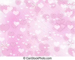 valentine, straat., groet, hartjes, dag, kaart