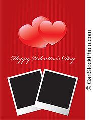 valentine, szczęśliwy, dzień, wektor