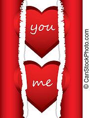 valentine, szczególny, tło, serca, dzień, czerwony