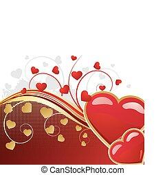 valentine, tło, kwiatowy