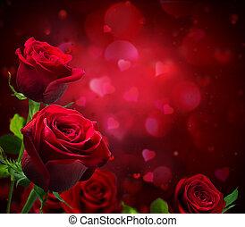valentine, tło, serca