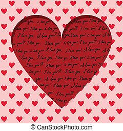 Valentine, tarjeta, manuscrito