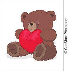 Valentine Teddy Bear Vector