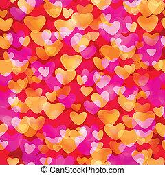 Valentine theme seamless pattern.