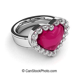 valentine-themed, ring