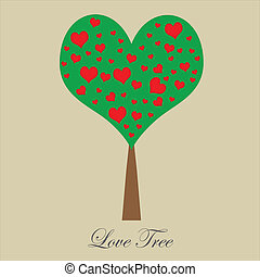 Valentine tree, love