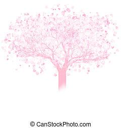 Valentine tree with hearts. EPS 8