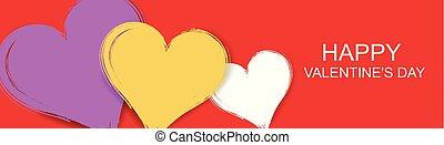 valentine, vecteur, fond, bannière, jour, heureux