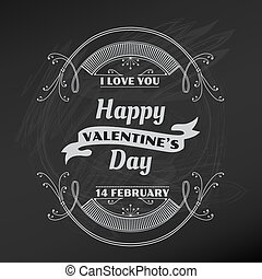 valentine, -, vector, ontwerp, plakboek, dag, kaart