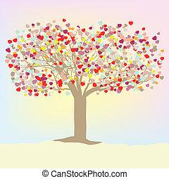 Valentine vector tree. EPS 8