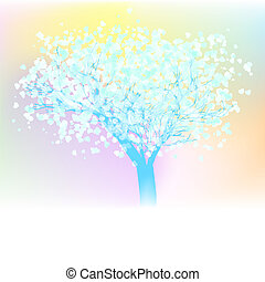 Valentine vector tree. EPS 8