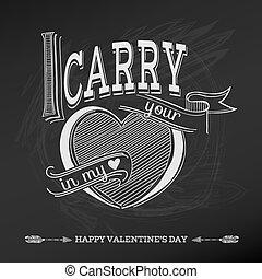 valentine, vendange, -, amour, vecteur, conception, jour mariage, carte