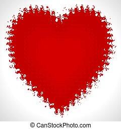 valentine, vetorial, dia, cartão