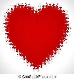 valentine, vettore, giorno, scheda