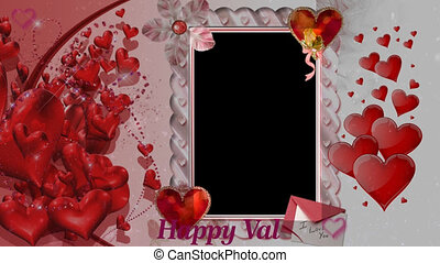 Valentine Video Background Loop 10 Red Rose and hearts with ...