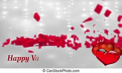 Valentine Video Background Loop 17 shinning particles with ...