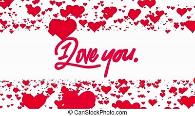 Red Flowing hearts with I Love You text with White background for TV program with Valentine and Wedding theme. Seamless loopable HD video They are compatible with industry standard, integrated live production suites and non-linear editing solutions like Adobe After Effects, Adobe Premiere Pro, Avid ...