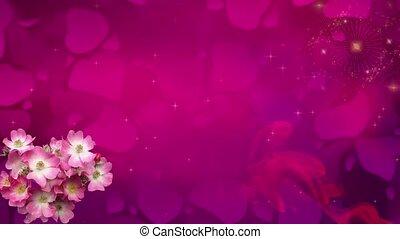 Valentine Video Background Loop_01_Pink Rose Petal
