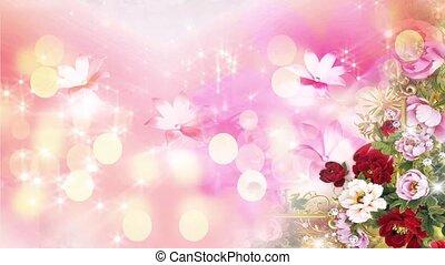 Valentine Video Background Loop_07_Pink Rose Petal