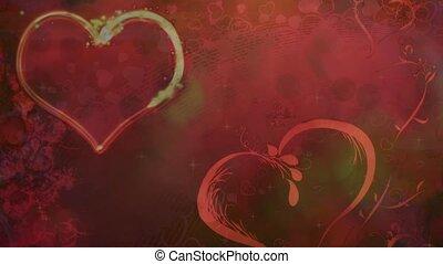 Valentine Video Background Loop_03_Orange Heart