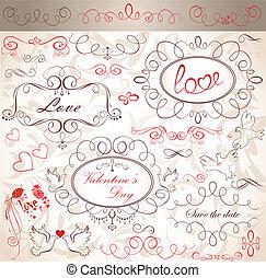 valentine, vindima, desenho