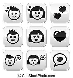 valentine, vrouw, man, liefde