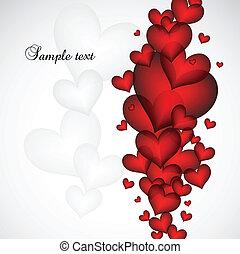 valentine, wektor, card., dzień