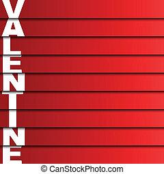 valentine, wektor, ilustracja, karta