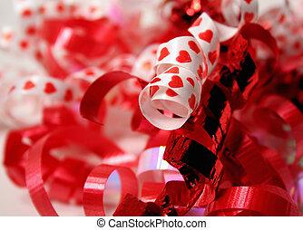 valentine, wstążki