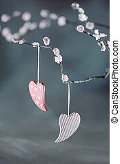 valentine's, jour, cœurs
