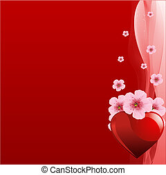valentine\'s, 일, 배경, 빨강