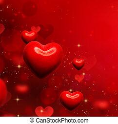 valentines, abstratos, papel parede, valentine, experiência., corações, vermelho