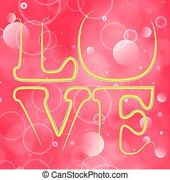 valentines, amour, card., word., salutation, bokeh, fond, jour, heureux