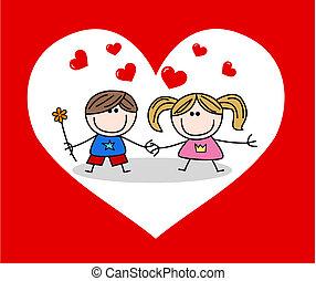 valentines, amour, jour, célébration