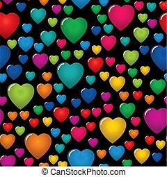 valentine\'s, astratto, giorno, fondo, seamless