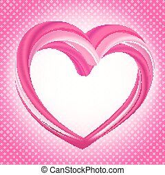 Valentines background, abstract pink heart shape