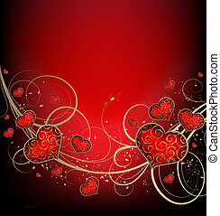 Valentines background - Valentines vector background with...