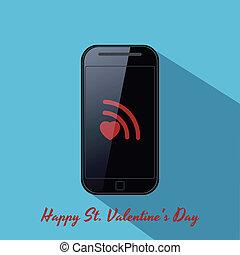 Valentine's background in flat design style.