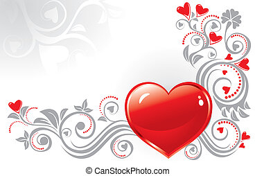 Valentine?s background - Ornamental heart background for...