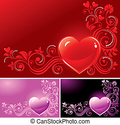 Valentine?s background - Ornamental heart background for ...
