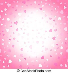 Valentines background, pink and white hearts