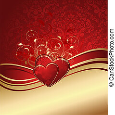 Valentines background - Red valentines background with ...