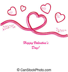 Valentine's background with hearts