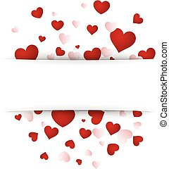 Valentine's background with hearts.