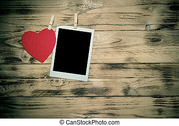 Valentines background with red heart.