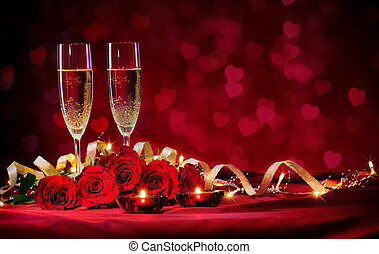 valentines, baggrund, dag